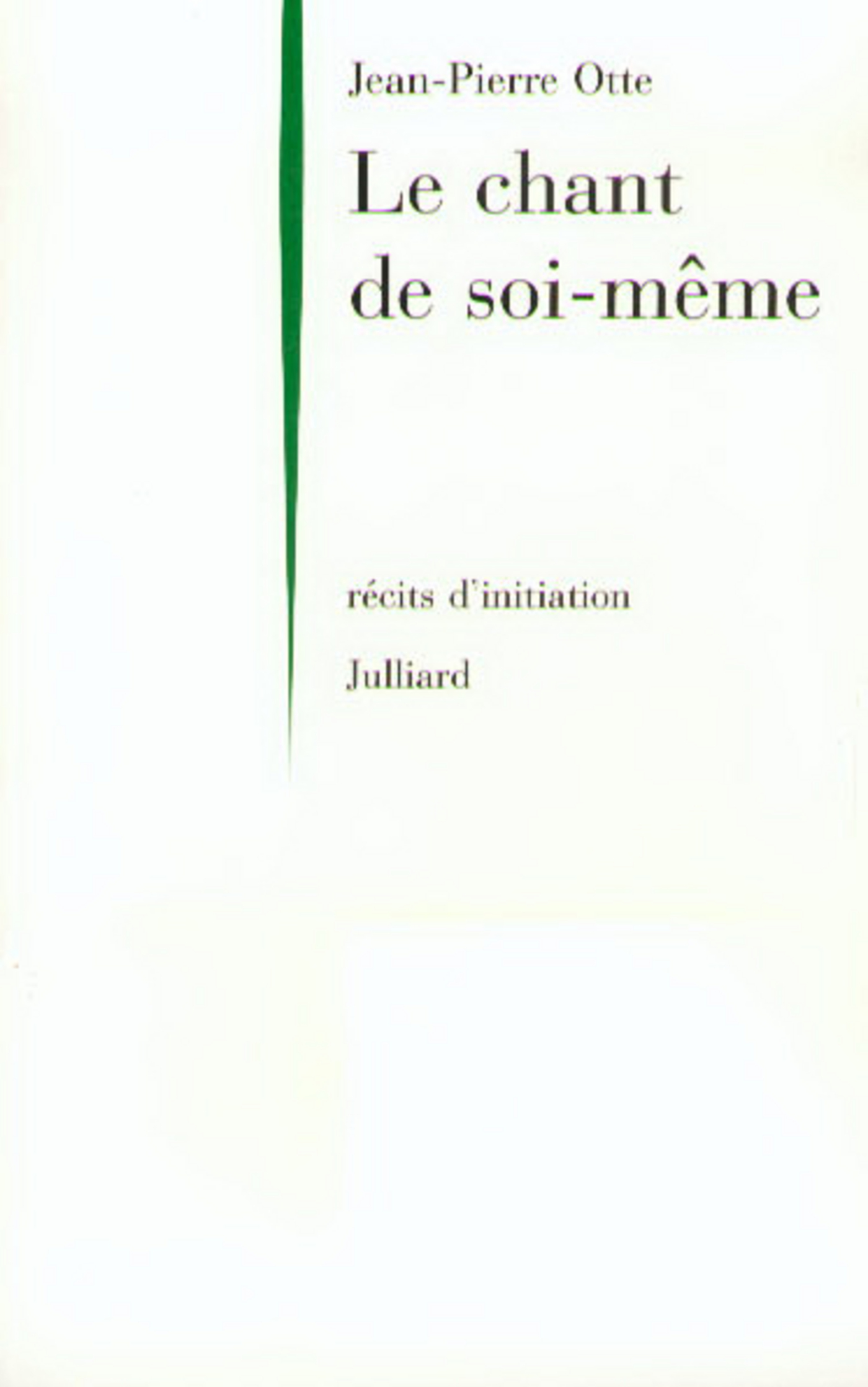 Le Chant de soi-même (ebook)