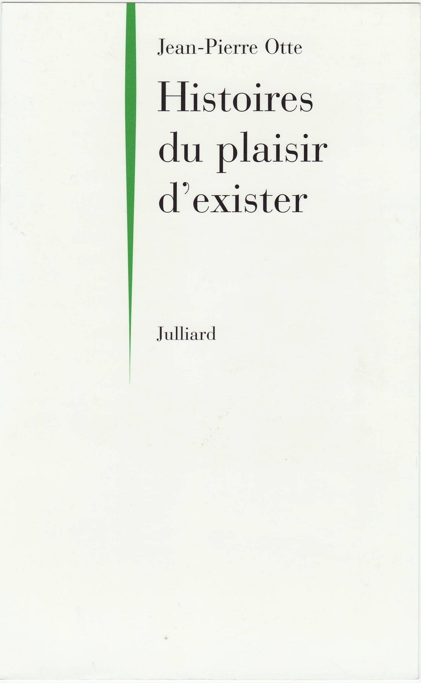 Histoires du plaisir d'exister (ebook)