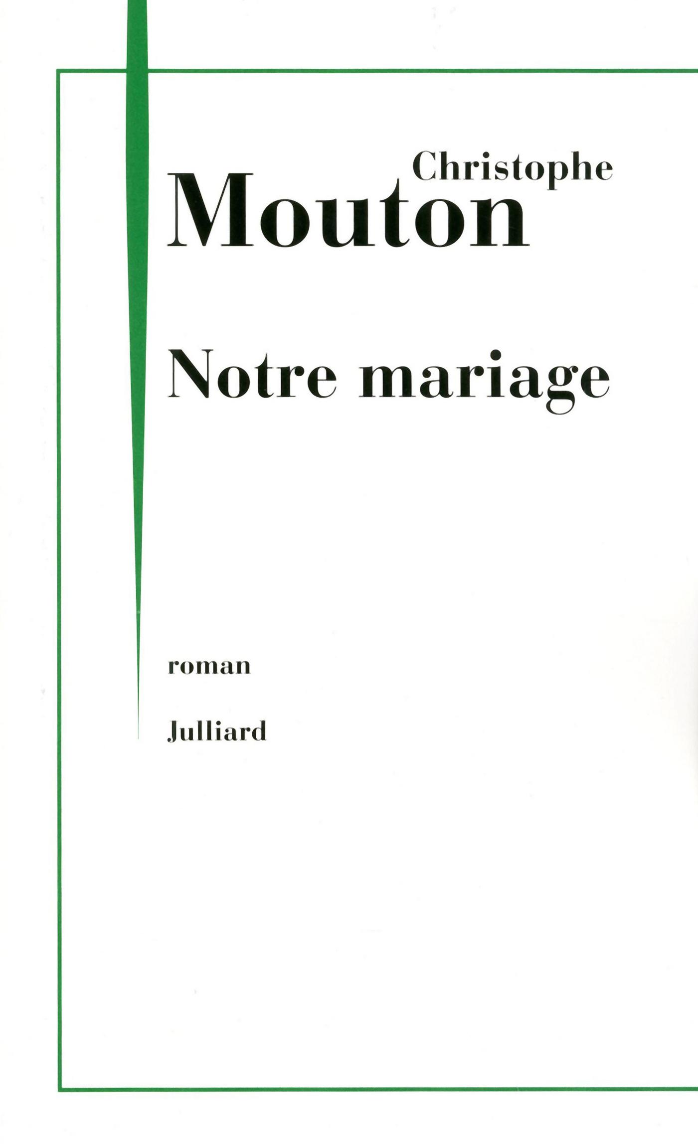 Notre mariage (ebook)