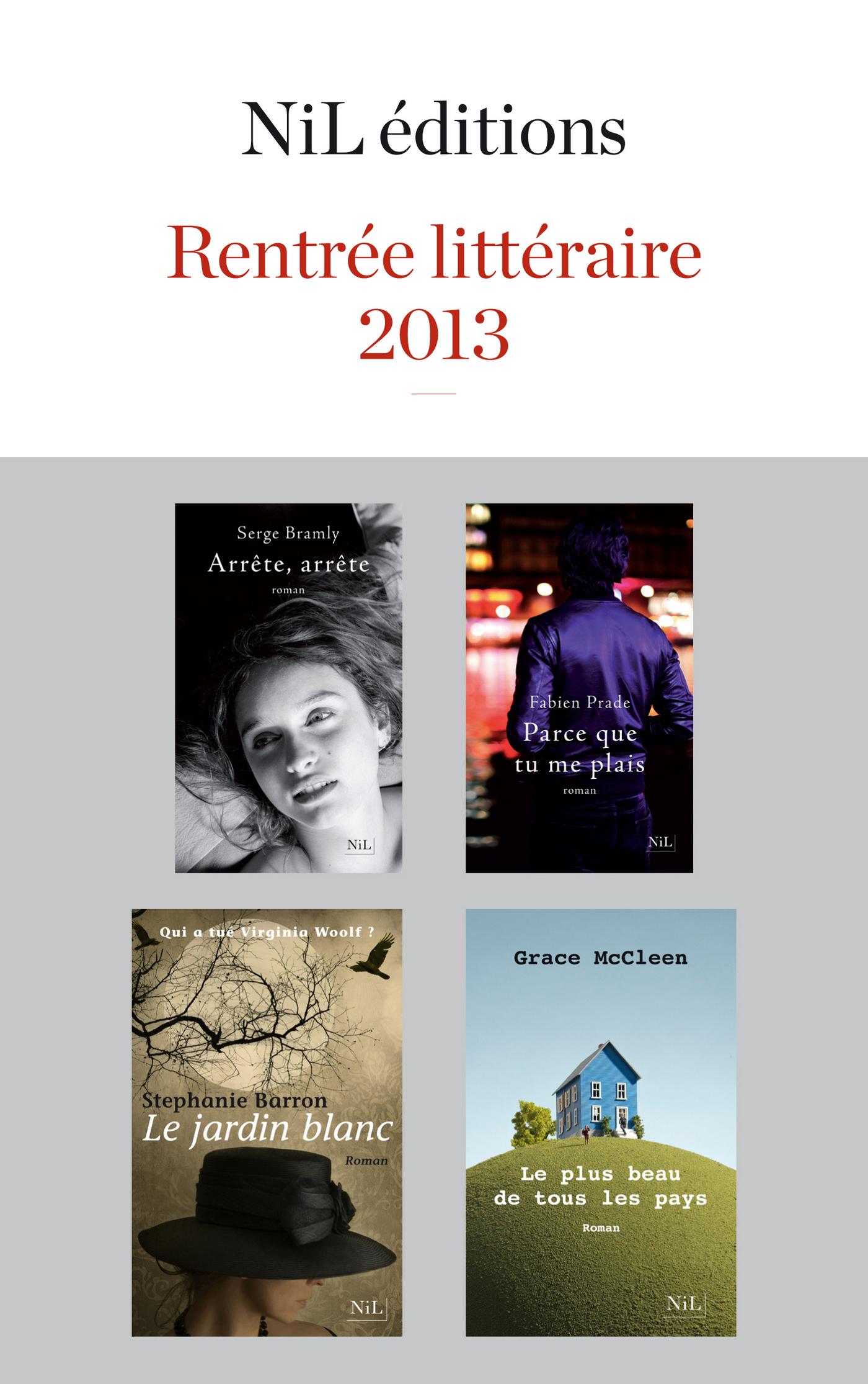 Rentrée littéraire 2013 - NiL éditions - Extraits gratuits (ebook)