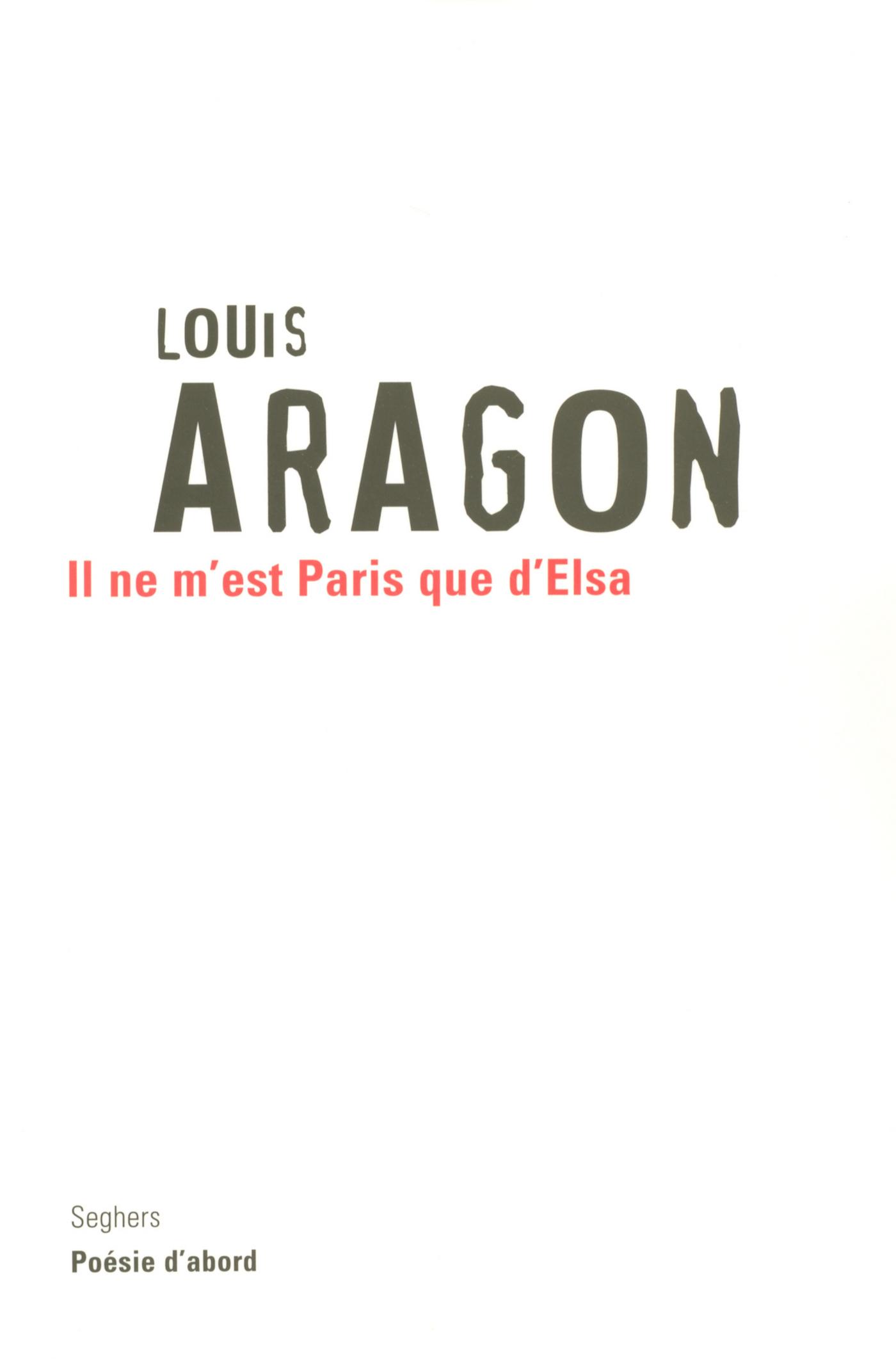 Il ne m'est Paris que d'Elsa (ebook)