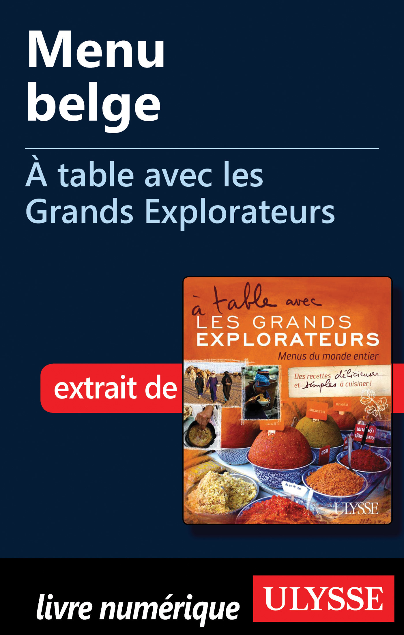 Menu belge - A table avec les Grands Explorateurs